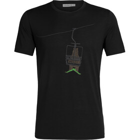 Icebreaker Tech Lite Bear Lift Koszulka z krótkim rękawem Mężczyźni, black